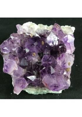 MINERALS * Dark AMETHYST Quartz Crystal Cluster URUGUAY 861g Crystal Healing A+-1