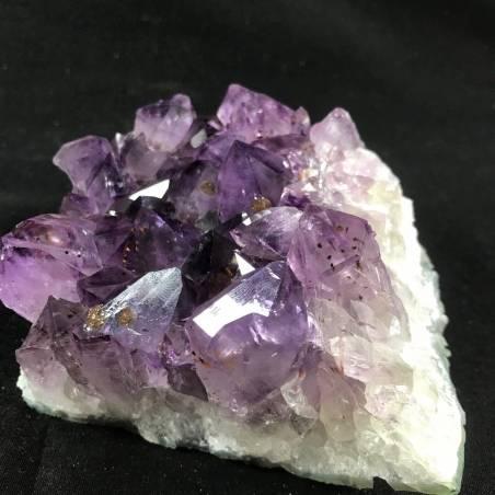 MINERALS * Dark AMETHYST Quartz Crystal Cluster URUGUAY 861g Crystal Healing A+-4