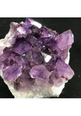 MINERALS * Dark AMETHYST Quartz Crystal Cluster URUGUAY 861g Crystal Healing A+-6