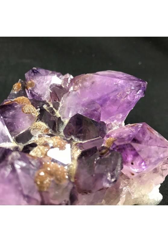 MINERALS * Dark AMETHYST Quartz Crystal Cluster URUGUAY 792g Crystal Therapy A+-5