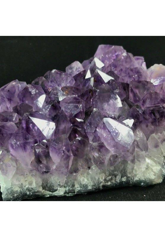 MINERALS * Dark AMETHYST Quartz Crystal Cluster URUGUAY 613g High Quality A+ Crystals−3