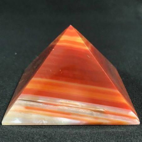MINERALS * Cute Carnelian Agate PYRAMID 6.4x6cm High Quality A+ Crystal Healing-2