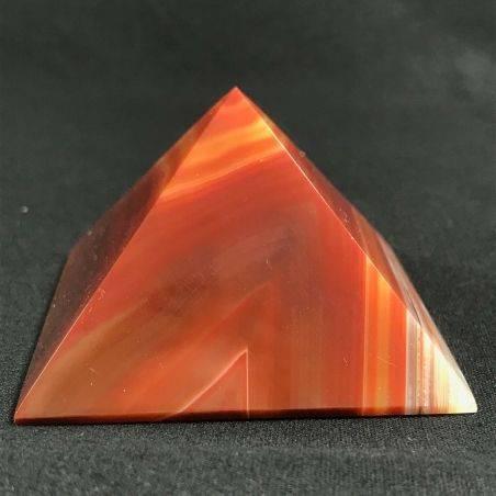 MINERALS * Cute Carnelian Agate PYRAMID 6.4x6cm High Quality A+ Crystal Healing−3