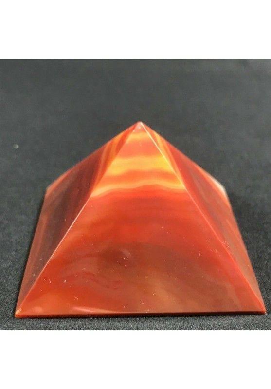 MINERALS * Cute Carnelian Agate PYRAMID 6.4x6cm High Quality A+ Crystal Healing-4
