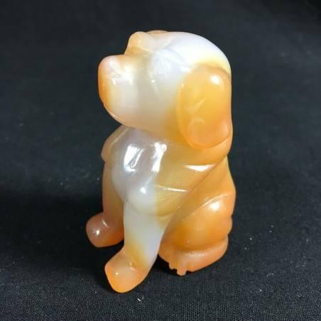 CARNELIAN AGATE Dog Medium ANIMALS Crystal Healing Gift Idea A+-4