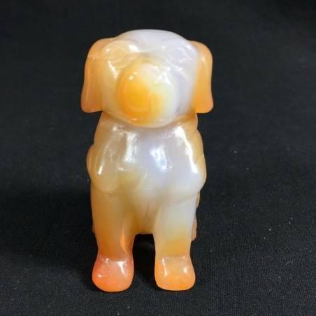 CARNELIAN AGATE Dog Medium ANIMALS Crystal Healing Gift Idea A+-5