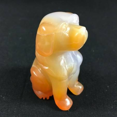 CARNELIAN AGATE Dog Medium ANIMALS Crystal Healing Gift Idea A+-6