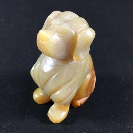 CARNELIAN AGATE Dog Medium Size ANIMALS Crystal Healing A+ MINERALS Reiki-1