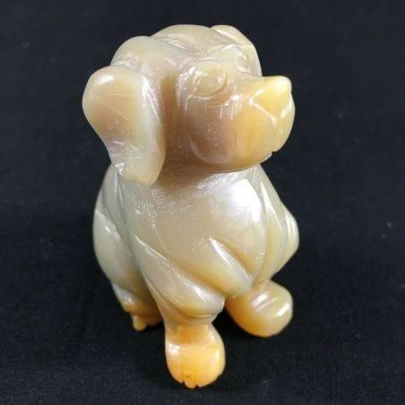 CARNELIAN AGATE Dog Medium Size ANIMALS Crystal Healing A+ MINERALS Reiki-2