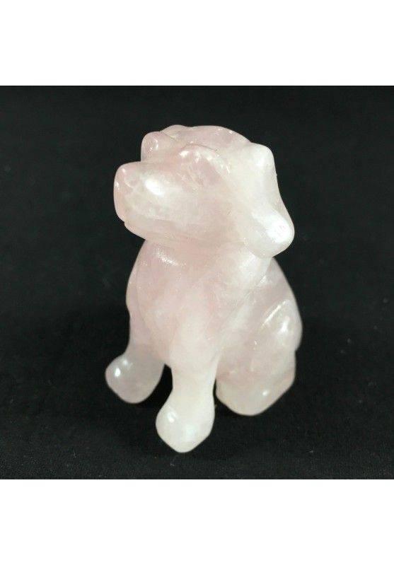 Cherry Quartz DOG BIG Size ANIMALS Crystal Healing Gift Idea A+ MINERALS-1