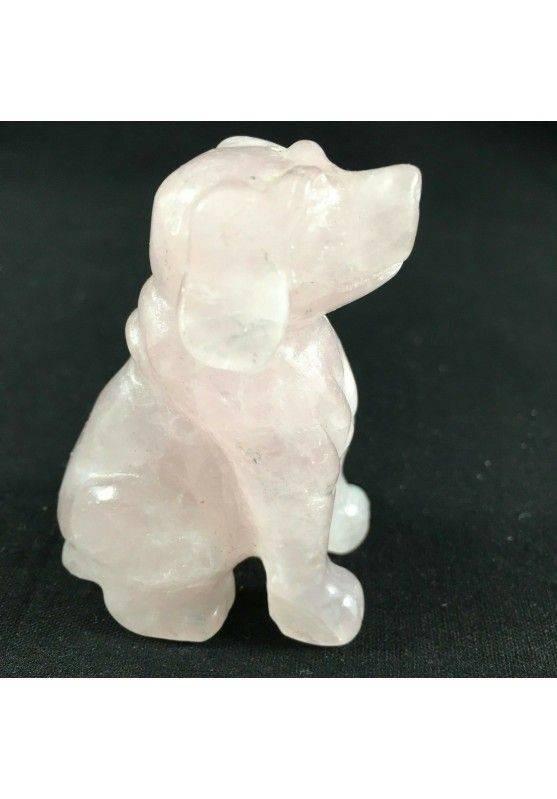 Cherry Quartz DOG BIG Size ANIMALS Crystal Healing Gift Idea A+ MINERALS−3