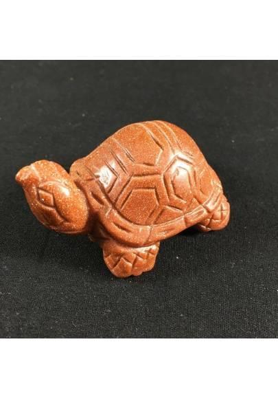 Tartaruga GRANDE in Pietra Del Sole Rossa Arredamento ANIMALI Minerali A+ Casa-1