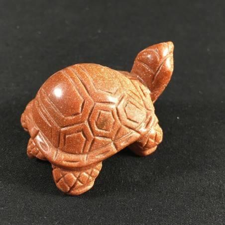 Tartaruga GRANDE in Pietra Del Sole Rossa Arredamento ANIMALI Minerali A+ Casa-3