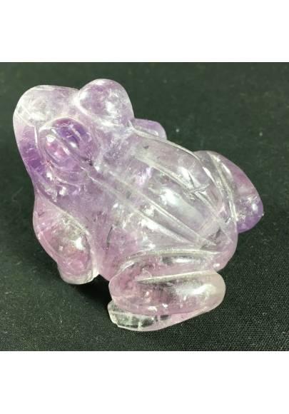 RANA in AMETISTA GRANDE 190g Cristalloterapia Minerali Chakra Regalo A+ Regalo-1