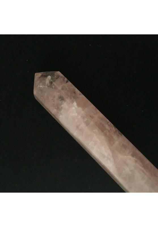 Massaggiatore in QUARZO Rosa a Punta Cristalloterapia Zen Minerali Chakra A+-1