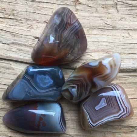 Botswana AGATE Tumbled Stone Gemstones Grey Agate Crystal Healing Quality A+-2