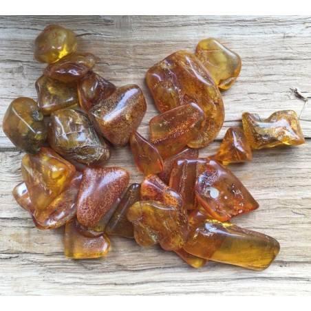 Polished Baltic AMBER Tumbled Stone Crystal Healing MINERALS High Quality Chakra Reiki A+-2