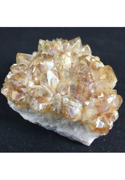 DRUSA di QUARZO CITRINO AQUA AURA Dorata Minerali Oro Geode Qualità Arredamento-1