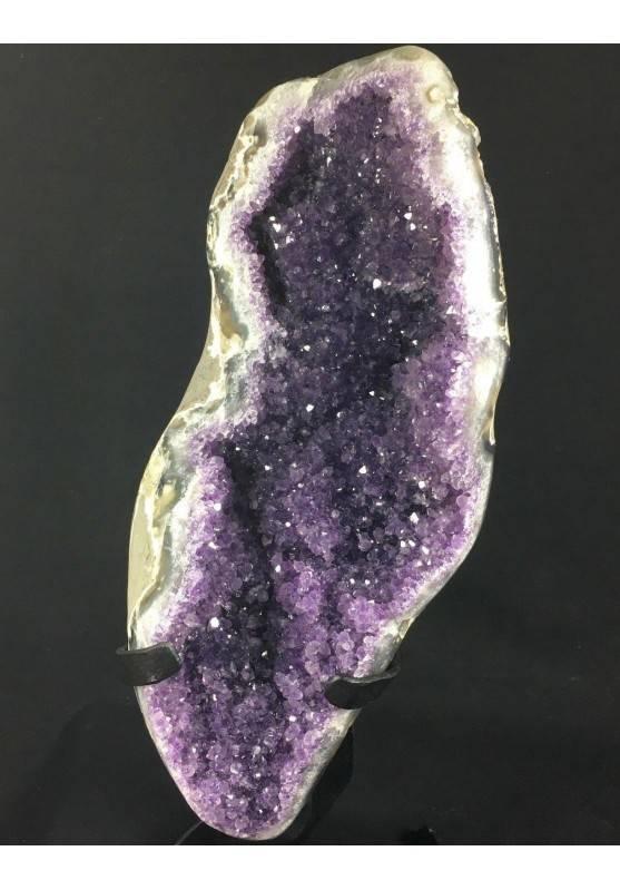 MINERALS BIG Uruguay AMETHYST DRUZY Iron Stand 1° Quality Minerals A++-2