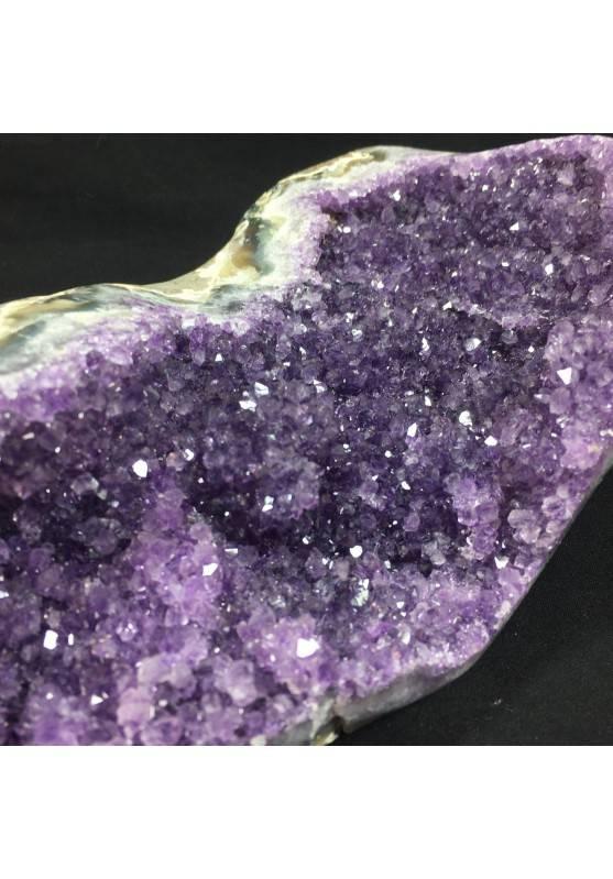 MINERALS BIG Uruguay AMETHYST DRUZY Iron Stand 1° Quality Minerals A++-5