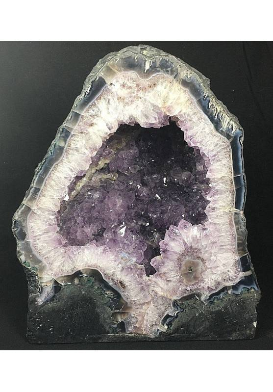 MINERALS Special Chatedral in AMETHYST with Fiore Stalattite Druzy Geoide A++-1