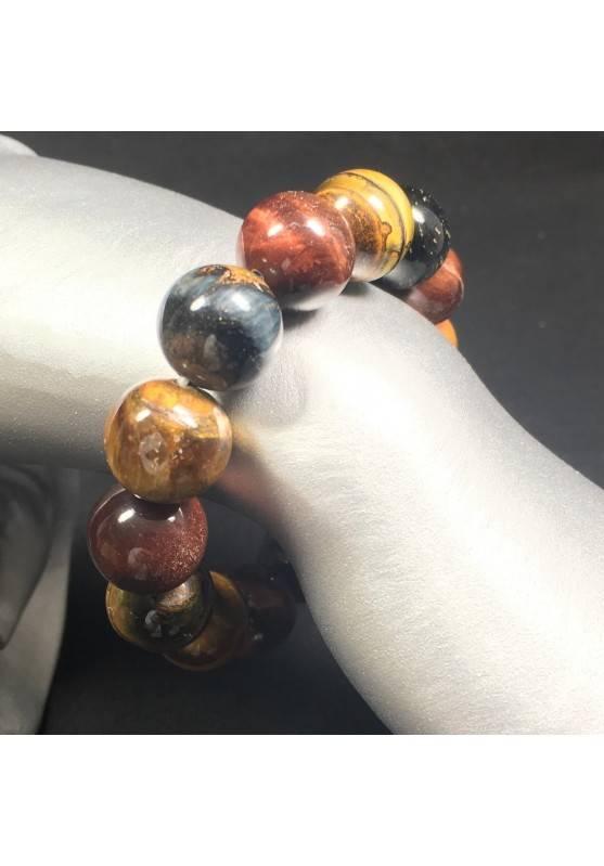 Natural Tiger's Eye Crystal Bead Men Women Lucky Charm Energy Crystal Healing A+-1