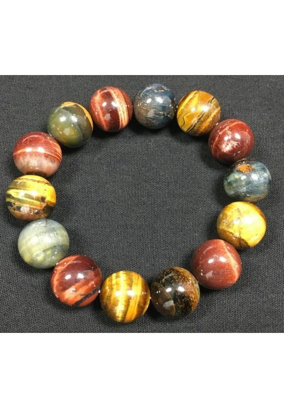 Natural Tiger's Eye Crystal Bead Men Women Lucky Charm Energy Crystal Healing A+−3