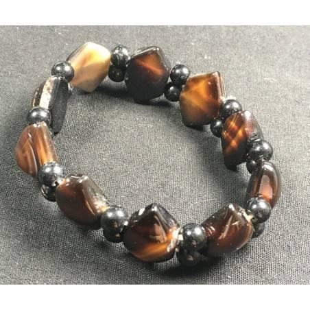 NATURAL Buddha's Eye AGATE Bracelet Rare Stone Crystal Healing Chakra−3