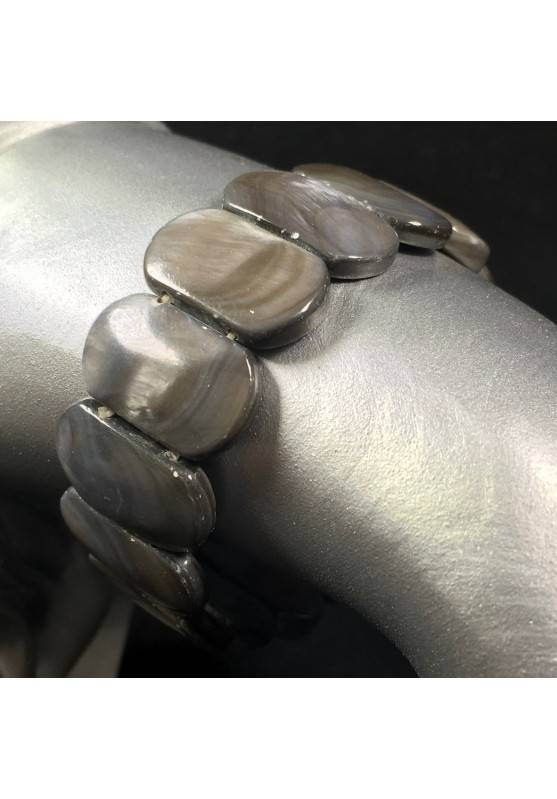 Bracciale in MADREPERLA Levigata Braccialetto Cristalloterapia Chakra Zen A+-1