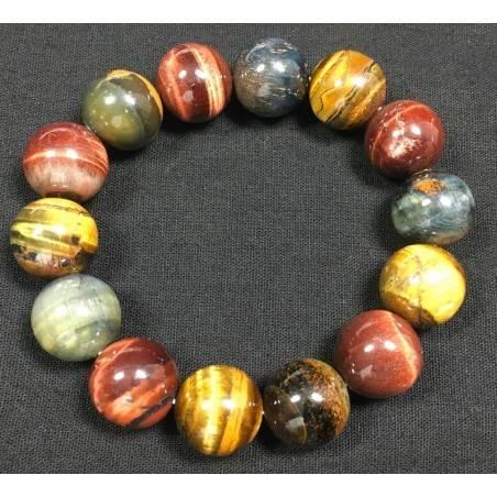 Natural Tiger's Eye Crystal Bead Men Women Lucky - CAPRICORN SCORPIO Chakra−3
