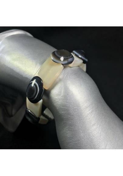 Natural Budda's Eye AGATE Bracelet Very High Quality - PISCES SAGITTARIUS GEMINI-1