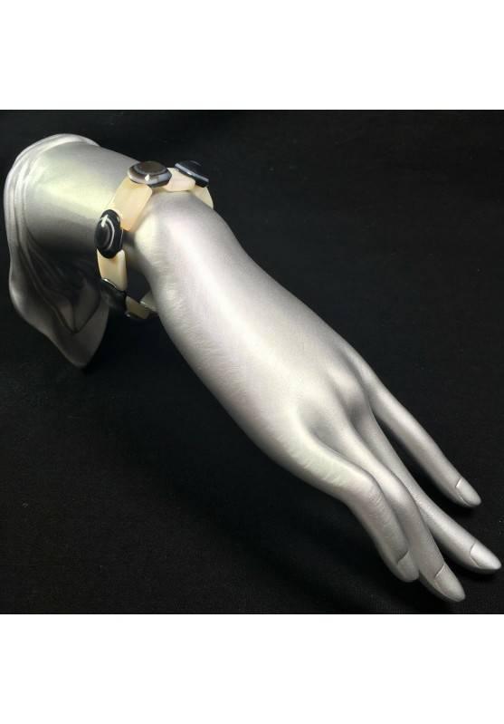 Natural Budda's Eye AGATE Bracelet Very High Quality - PISCES SAGITTARIUS GEMINI-2