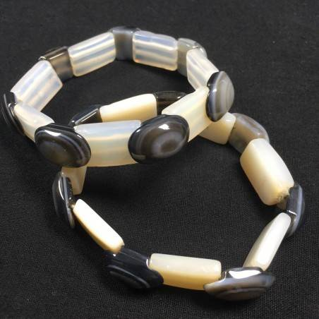 Natural Budda's Eye AGATE Bracelet Very High Quality - PISCES SAGITTARIUS GEMINI−3