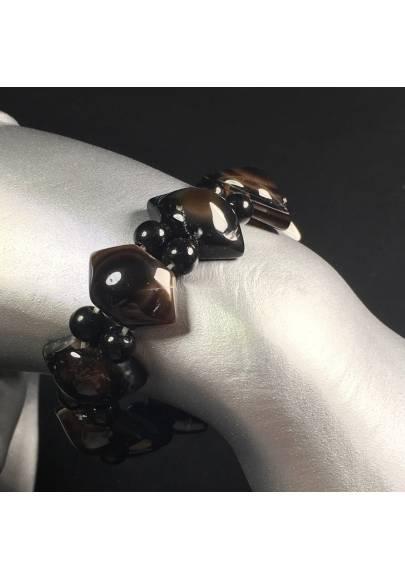 NATURAL Buddha's Eye AGATE Polished Bracelet Rare Crystal Healing Chakra A+-1