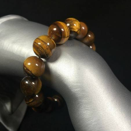 Natural TIGER'S EYE Crystal Beaded Men Women Lucky MINERALS Crystal Healing Zen A+-1