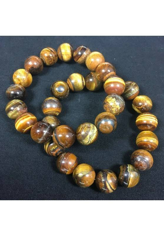 Natural TIGER'S EYE Crystal Beaded Men Women Lucky MINERALS Crystal Healing Zen A+−3