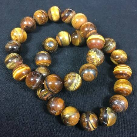 Natural TIGER'S EYE Crystal Beaded Men Women Lucky - CAPRICORN SCORPIO Zodiac A+−3