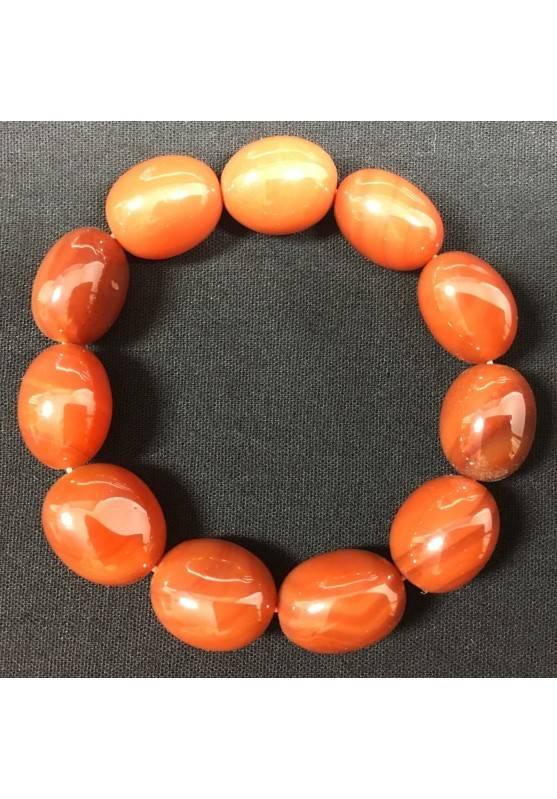 Red CARNELIAN Tumbled Stones Bracelet Crystal Healing Chakra A+−3