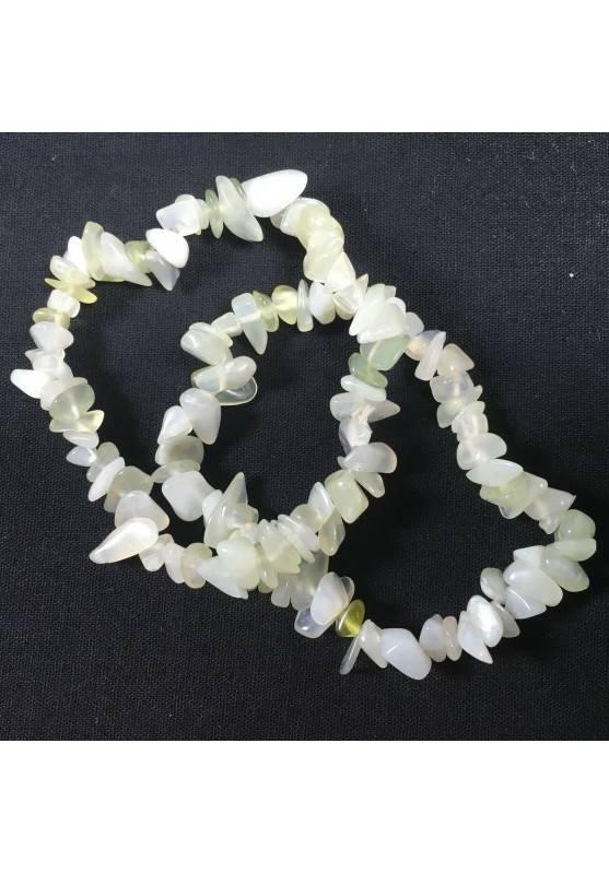 Bracciale Chips di GIADA Braccialetto Qualità Cristalloterapia Chakra Reiki A+-2
