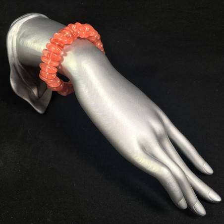 CHERRY ROSE QUARTZ Bracelet Pink Color Tumbled Stones Crystal Healing Chakra A+-2
