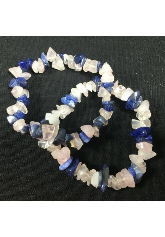 Bracciale in SODALITE e QUARZO ROSA Braccialetto Cristalloterapia Chakra Zen A+-3