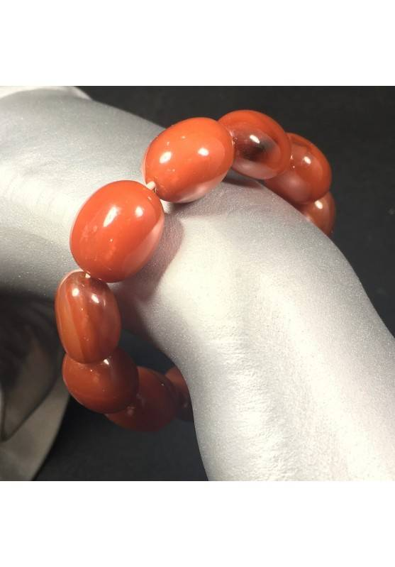 RED CARNELIAN Tumbled Stones Bracelet - CANCER TAURUS LEO Zodiac-1