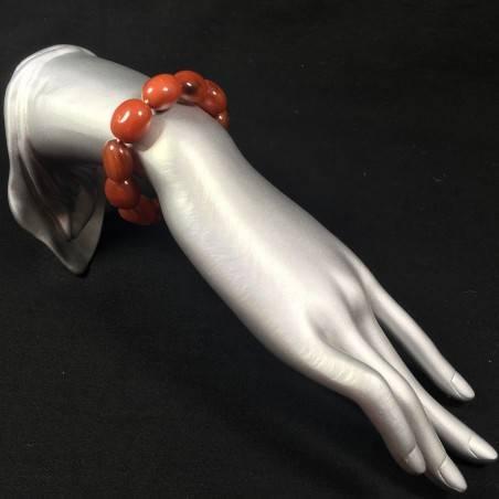 RED CARNELIAN Tumbled Stones Bracelet - CANCER TAURUS LEO Zodiac-2
