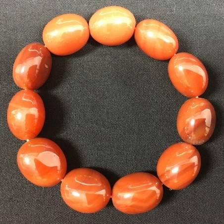 RED CARNELIAN Tumbled Stones Bracelet - CANCER TAURUS LEO Zodiac−3