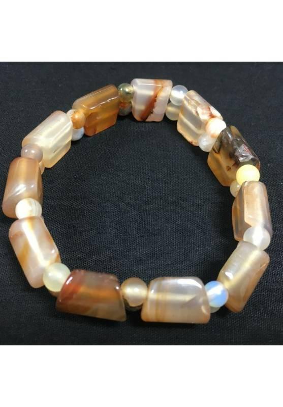 Bracciale in AGATA CORNIOLA Minerale Braccialetto Cristalloterapia Chakra Zen A+-2