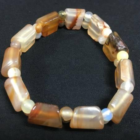 CARNELIAN AGATE Bracelet MINERALS Crystal Healing Chakra Zen A+-2