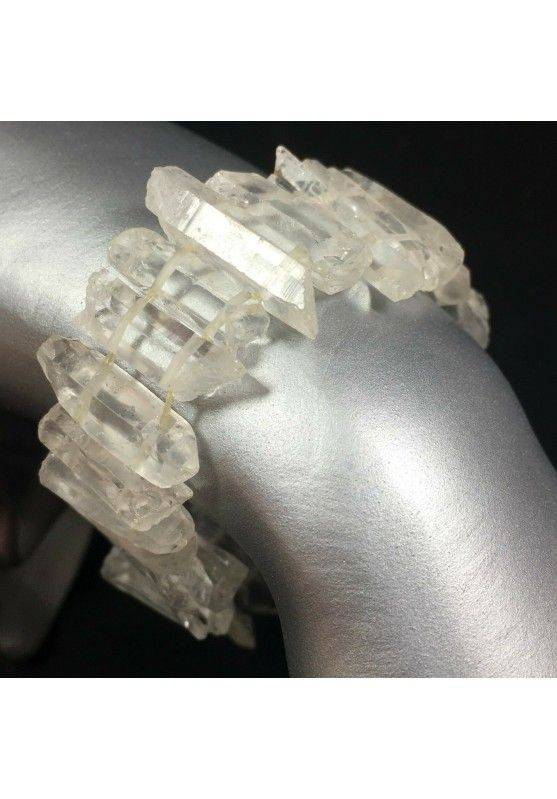 Double Terminated Clear Quartz Bracelet Point Gift Idea Crystal Healing MINERALS A+-1