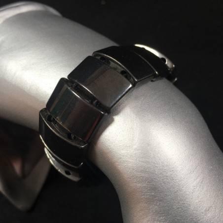 MAGNETIC HHEMATITE Bracelet Crystal Healing - SCORPIO CAPRICORN LEO Reiki A+-1