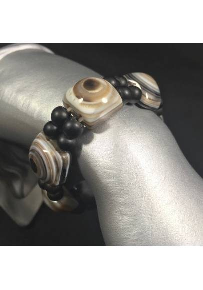 Buddha's Eye AGATE Bracelet Crystal Healing Authentic Zen A+-1