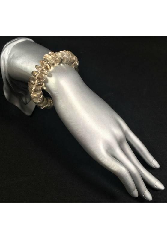 CLEAR QUARTZ Bracelet Medium Size Elasticated Crystal Healing Chakra Zen A+-2
